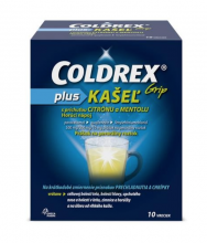 Coldrex Grip PLUS Kašeľ citrón a mentol 10ks