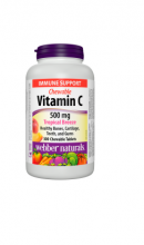 Vitamin C 500mg Tropical Breeze  Webber naturals 300 žuvacích tabliet